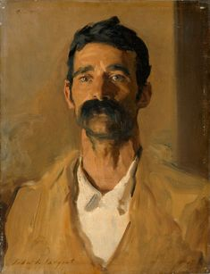 'Study of a Sicilian peasant'-1907, Artist ~ John Singer Sargent ~ Oil on canvas, 60 x 46 cm. Copyright © The Fitzwilliam Museum, Cambridge.