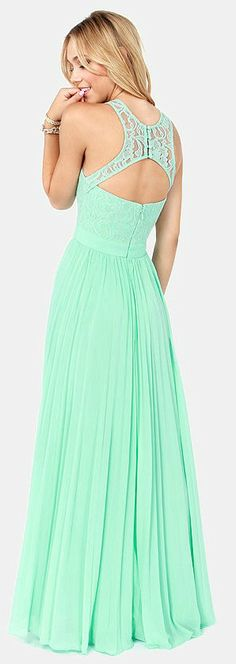 Mint Green Lace Maxi Dress. So pretty!