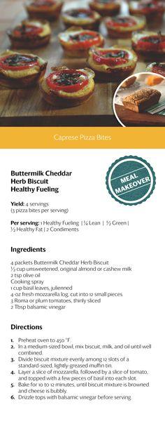 Caprese Pizza Bites....YUMMM!! #OPTAVIA30 #choosehealthalways