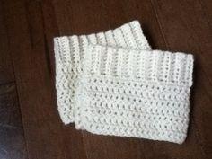 Cream boot cuffs I made