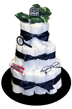 Over the hill diaper cake! I love it!! So making this for a birthday this weekend!