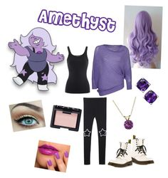 Amethyst from Steven universe by zamantha-palazuelos on Polyvore featuring Annarita N., Ralph Lauren, Dr. Martens, Everlasting Gold and NARS Cosmetics