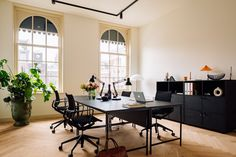 Fosbury & Sons Coworking Offices - Amsterdam | Office Snapshots Steel Frame Doors, Stylish Office, Co Working, Wooden Desk, Parquet Flooring, Coworking Space, Upholstered Sofa, Sectional Sofa, Amsterdam