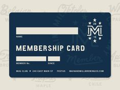membership card (and generic gift card design) attached