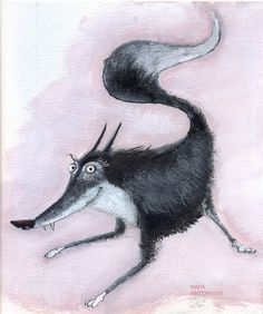 Illustration by Rafa Anton     Do livro, É o lobo?. Cristina Dias, FTD editora