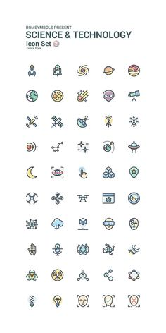 Science & Technology Colors by BomSymbols on Creative Market Icon Set Science & Technology Colors by Mini Drawings, Doodle Drawings, Easy Drawings, Doodle Art, Mini Tattoos, Small Tattoos, Cat Tattoos, Ankle Tattoos, Arrow Tattoos