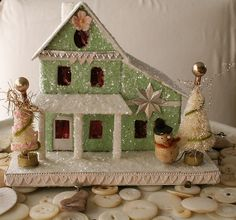 Cristmas house by pam garrison, via Flickr