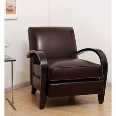 Bloomington Dark Brown Leather Chair - Overstock Shopping - Great Deals on Living Room Chairs