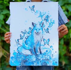 PEACE Watercolor Has An Unpredictable Character That Lets Me Create Expressive Animal Paintings | Bored Panda