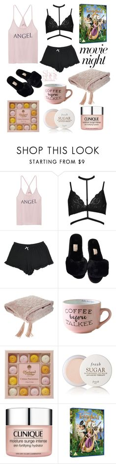 """""""Flynn is hot"""" by kate99k ❤ liked on Polyvore featuring Victoria's Secret, Boohoo, Fresh and Clinique"""