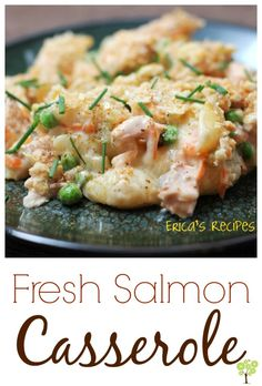 Fresh Salmon Casserole is a healthy casserole that most everyone will enjoy. It's one of the best fish recipes. Fish Dishes, Seafood Dishes, Seafood Recipes, Main Dishes, Cooking Recipes, Healthy Recipes, Salmon Dishes, Cooking Videos, Lunch Recipes