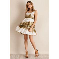 Entro Tie Dye Tiered Dress