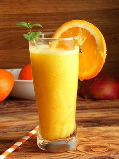 Orange Juice, Cantaloupe, Smoothies, Fruit, Desserts, Food, Portuguese Recipes, Rpg, Smoothie