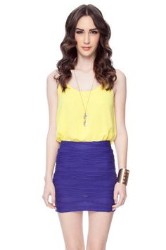 Prim Trim Skirt in Violet $23 at www.tobi.com