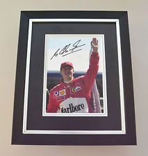 Michael Schumacher Signed 10x8 Photo Framed Autograph Display Formula One + COA