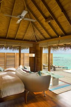 Conrad Maldives Rangali Island - Maldives - All villas are fashioned with traditional thatch roofs and feature glorious views.