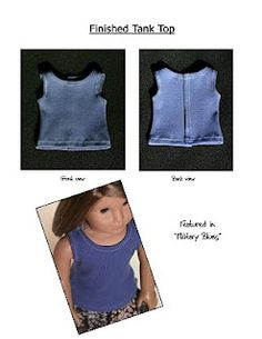 Free 18 inch Doll Clothes Pattern: Tank Top | Liberty Jane Doll Clothes Patterns For American Girl Dolls