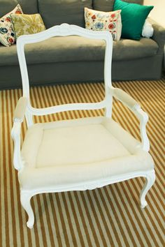 Little Green Notebook: How to Reupholster a Chair, Part 2: Painting the Frame