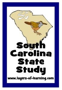 South Carolina for kids - a South Carolina State Study.  History, facts, and a printable map. Free.