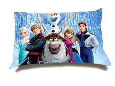 "Disney Frozen Cotton Pillow Case Custom size 18"" x 18"", size 20"" x 30"" Home Decor, One Side"