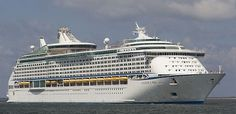 Royal Caribbean Cruise Line Cruise Ship Vision Of The Seas Track At Sea Li