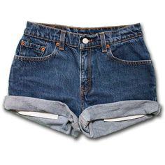 SALE! Levi Brand Plain High Waisted Denim Shorts (290 MXN ...