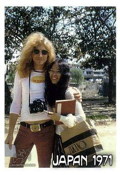 Japan 1971 - Robert Plant. LOVE his shirt!