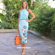 Look de trabalho - look do dia - look corporativo - moda no trabalho - work outfit - office outfit -  spring outfit - look executiva - summer outfit - saia lápis midi - azul - mint - blue baby -