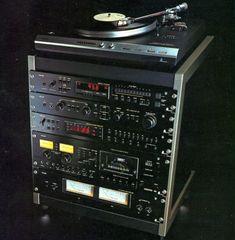 PHILIPS AH 008/00 Hifi Music System, Audio System, Audio Rack, Radios, Black Tulips, Hifi Audio, Hifi Stereo, Tape Recorder, Record Players