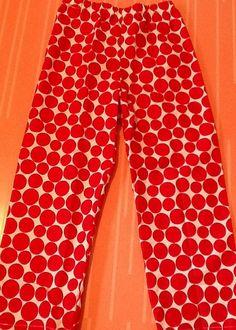 Red HOLIDAY CIRCLES cotton Christmas Pajama by pajamaworkshop, $22.00