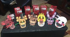 Fnaf five nights at Freddy's goody treat bags diy birthday party decorations