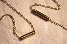 DIY:  Gold Bar Necklace (from the hardware store!)