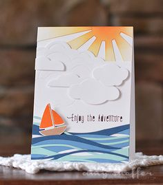 June release Pickled Paper Designs: Enjoy the Adventure Nautical Cards, Card Sketches, Masculine Cards, Card Tags, Creative Cards, Kids Cards, Greeting Cards Handmade, Paper Design, Cardmaking