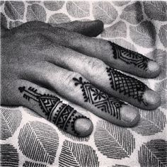 Individual finger designs would be kind of cool if you only wanted a little henna