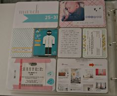 I like that she included one of her Pinterest boards.  Jodi McKee - blog - project life - weeks 13 & 14
