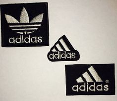 adidas embroidered iron on sew on patch badge logo by Embrologos