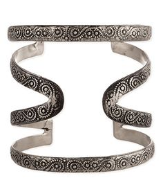 Look what I found on #zulily! Silvertone Etched Cuff by ZAD #zulilyfinds
