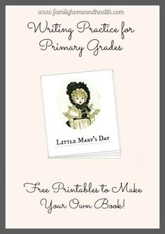 Writing Practice for Primary Grades FREE Printable to Make Your Own Book