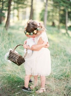 If this isn't the cutest thing ever, we don't know what is! http://www.stylemepretty.com/montana-weddings/2015/05/22/a-romantic-outdoor-wedding-in-montana/ | Photography: Orange Photographie - http://orangephotographie.com/