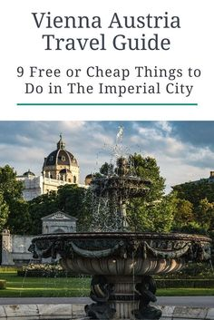 Vienna, Austria's capital, can be a pretty expensive destination to visit. We recently spent three days there and didn't break the bank. Click here to see our list of free and cheap things to do in The Imperial City. PLUS where to stay in Austria on a bud