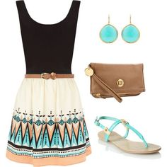 Super cute sleeveless mini dress combo