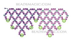 Free pattern for necklace Clark - 2. U need: seed beads 10/0 round beads 4-5 mm