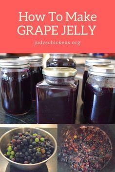 How to make grape jelly. Grape Jelly Recipe No Pectin, Homemade Grape Jelly, Jelly Recipes, Jam Recipes, Canning Recipes, Concord Grape Recipes, Concord Grape Jelly, Canning Vegetables, Marmalade
