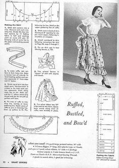 A how-to on Ruffled over-skirt. Image from Smart Sewing Magazine. Vintage Knitting, Vintage Sewing Patterns, Clothing Patterns, Sewing Tutorials, Sewing Projects, Sewing Ideas, Wrap Clothing, Sewing Magazines, Make Do And Mend