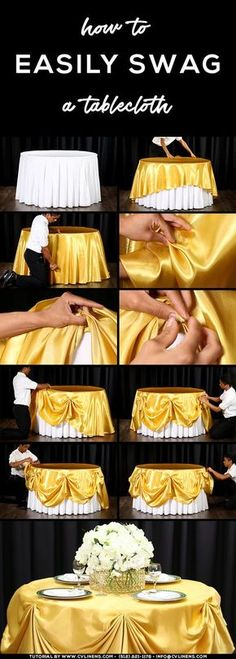 how to swag a tablecloth easily diy wedding sweetheart table
