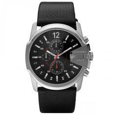 e0999c9fb82 Diesel DZ4182 Master Chief Chronograph Black Dial Leather strap men s watch  Diesel Outlet