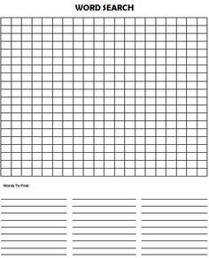 Blank Wordsearch Grids | Teaching Ideas | Pinterest | Word search ...