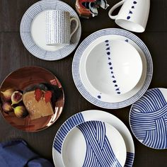 West Elm Hand-Painted Dotted Dinnerware Set