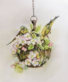 "Misha on Instagram: ""Весна 🌸☀️🌿…"" Watercolour Art, Painting, Instagram, Painting Art, Paintings, Painted Canvas, Drawings"