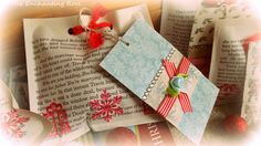 The Enchanting Rose: Wrap It Up...With Book Pages
